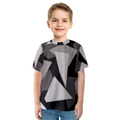 Simple gray abstraction Kid s Sport Mesh Tee
