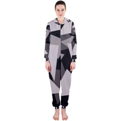 Simple gray abstraction Hooded Jumpsuit (Ladies)