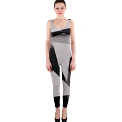 Simple gray abstraction OnePiece Catsuit