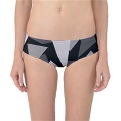 Simple gray abstraction Classic Bikini Bottoms
