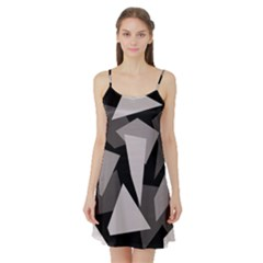 Simple gray abstraction Satin Night Slip
