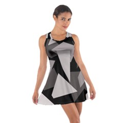 Simple gray abstraction Cotton Racerback Dress