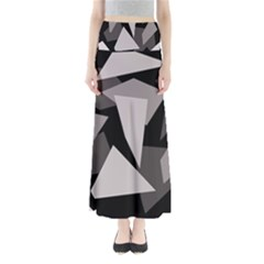 Simple gray abstraction Maxi Skirts