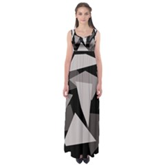 Simple gray abstraction Empire Waist Maxi Dress