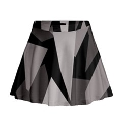 Simple gray abstraction Mini Flare Skirt