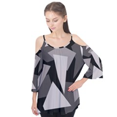 Simple gray abstraction Flutter Tees