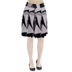 Simple gray abstraction Pleated Skirt