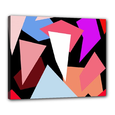 Colorful geometrical design Canvas 20  x 16