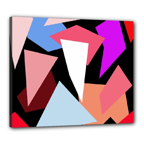 Colorful geometrical design Canvas 24  x 20