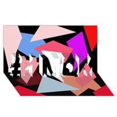 Colorful geometrical design #1 MOM 3D Greeting Cards (8x4)