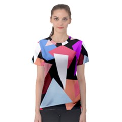 Colorful geometrical design Women s Sport Mesh Tee