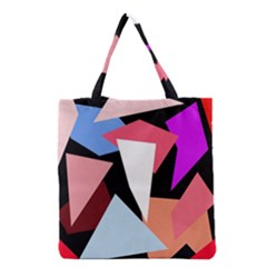 Colorful Geometrical Design Grocery Tote Bag