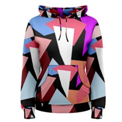 Colorful geometrical design Women s Pullover Hoodie