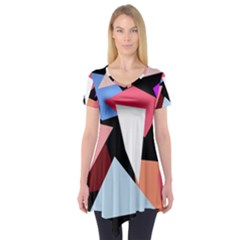 Colorful geometrical design Short Sleeve Tunic