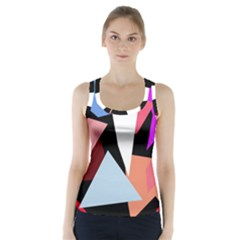 Colorful geometrical design Racer Back Sports Top