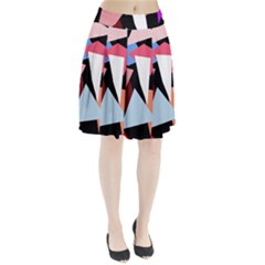 Colorful geometrical design Pleated Skirt