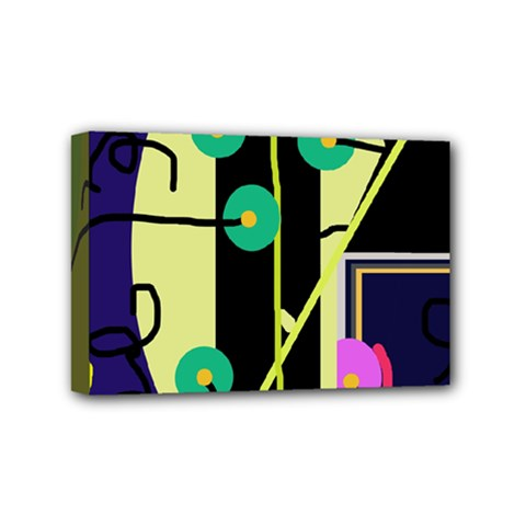Crazy abstraction by Moma Mini Canvas 6  x 4