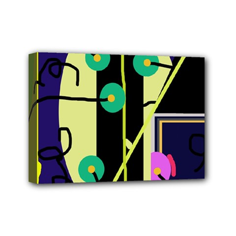 Crazy abstraction by Moma Mini Canvas 7  x 5