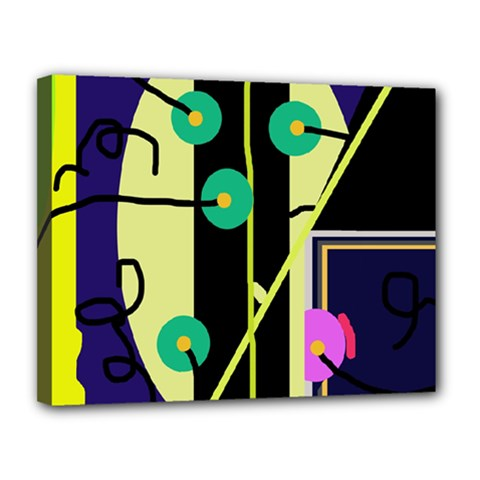 Crazy abstraction by Moma Canvas 14  x 11