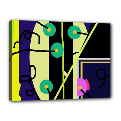 Crazy abstraction by Moma Canvas 16  x 12