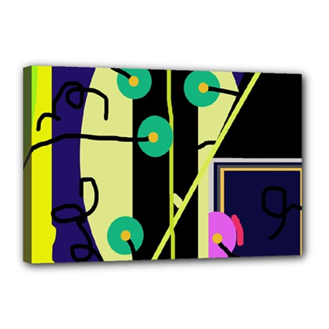 Crazy abstraction by Moma Canvas 18  x 12