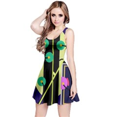 Crazy abstraction by Moma Reversible Sleeveless Dress