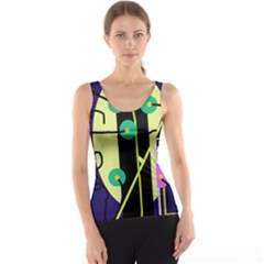 Crazy abstraction by Moma Tank Top