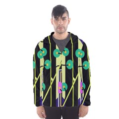 Crazy abstraction by Moma Hooded Wind Breaker (Men)