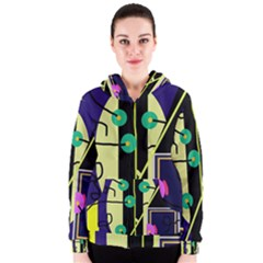 Crazy abstraction by Moma Women s Zipper Hoodie