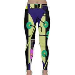 Crazy abstraction by Moma Yoga Leggings