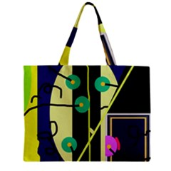 Crazy abstraction by Moma Zipper Mini Tote Bag