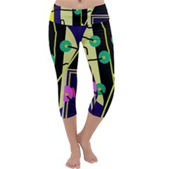 Crazy Abstraction By Moma Capri Yoga Leggings
