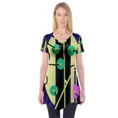 Crazy Abstraction By Moma Short Sleeve Tunic