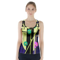 Crazy abstraction by Moma Racer Back Sports Top