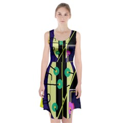 Crazy abstraction by Moma Racerback Midi Dress