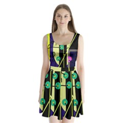 Crazy abstraction by Moma Split Back Mini Dress