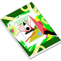 Green abstract artwork Large Memo Pads