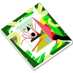 Green abstract artwork Small Memo Pads