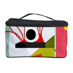Green abstract artwork Cosmetic Storage Case