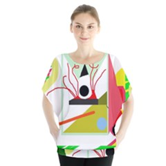 Green abstract artwork Blouse