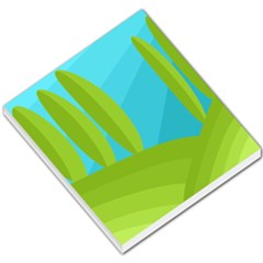 Green and blue landscape Small Memo Pads