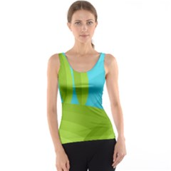 Green and blue landscape Tank Top