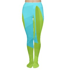 Green and blue landscape Women s Tights