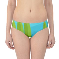 Green and blue landscape Hipster Bikini Bottoms