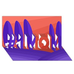 Purple and orange landscape #1 MOM 3D Greeting Cards (8x4)