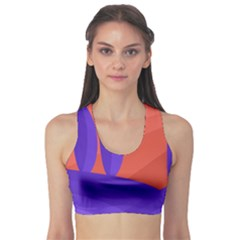 Purple and orange landscape Sports Bra