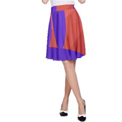 Purple and orange landscape A-Line Skirt