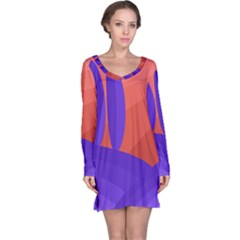 Purple and orange landscape Long Sleeve Nightdress