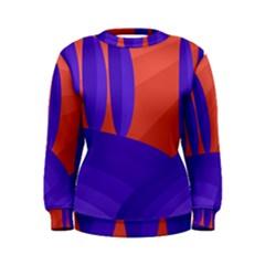 Purple and orange landscape Women s Sweatshirt