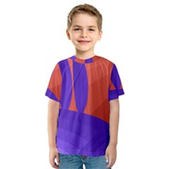 Purple and orange landscape Kid s Sport Mesh Tee